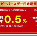 新生銀行の定期預金が3ヶ月0.5%のキャンペーン中なので申し込んできた