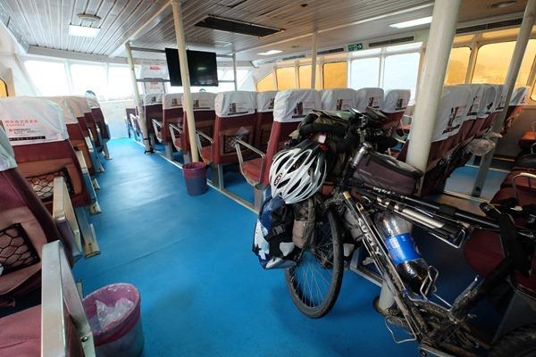 DSCF4105 - 【自転車旅行】中国・福州港馬尾から台湾・馬祖南竿島・福澳港の船に乗船、海路国境越えを自転車とする